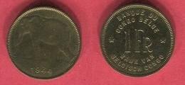 1 FRANC 1944  TTB 2 - Congo (Belge) & Ruanda-Urundi
