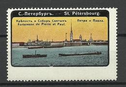 RUSSIA Ca 1910 St. Petersburg Fortresse Castle Pierre Et Paul * - Cinderellas