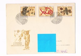 Cuba - FDC - N.2 Buste - 30 Anniversario Della Società Speleologica Di Cuba - 1970 - FDC