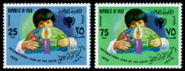 Iraq, 1979, International Year Of The Child, IYC, UNICEF, United Nations, MNH, Michel 1008-1009 - Iraq