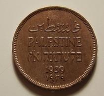 Palestine 1 Mil 1939 Varnished - Monnaies