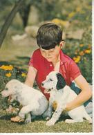 Enfant Avec Deux Petits Chiens - Escenas & Paisajes