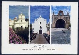 Old Churches  - Puerto Rico  - Postal Card - Timbres
