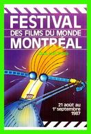 AFFICHES DE FILM -  FESTIVAL DES FILMS DU MONDE, MONTRÉAL, 1987 - PAR MARIO GAILLOUX - - Séries TV
