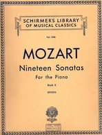 MOZART Nineteen Sonatas   For The Piano Book II Schirmer's Library Of Musical Classics Vol 1306 - Instruments à Cordes