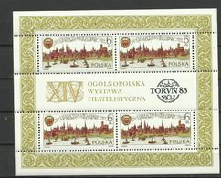 Poland 1983 - Exhibition , Torun, MNH - Blocks & Sheetlets & Panes