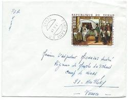 ENVELOPPE FORT LAMY TCHAD POUR MONTLHERY 1969 / NAPOLEON VISITANT L'INFIRMERIE DES INVALIDES - Tchad (1960-...)