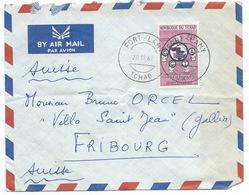 ENVELOPPE FORT LAMY TCHAD POUR FRIBOURG SUISSE 1960 / COMMISSION DE COOPERATION TECHNIQUE EN AFRIQUE DU SUD DU SAHARA - Chad (1960-...)