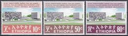 Äthiopien Ethiopia 1970 Postwesen Postgebäude Bauwerke Buildings Architektur Architecture Adis Abeba, Mi. 656-8 ** - Äthiopien