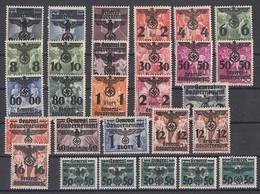 GG Minr.14-39 Mit Falz - Besetzungen 1938-45