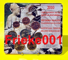 Griekenland - Grèce - Officiële Set 2010 BU Met 2 Euro Comm. - Grèce