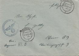 FELDPOST Brief 1942 - Gel.v. Hörsching > Wien, Brief Ohne Inhalt - 1939-45