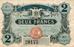 891-2019     CHAMBRE DE COMMERCE D ANGOULEME  2 FRANCS - Chambre De Commerce