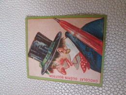 Figurina Antica, Chromo, Victorian Trade Card. Guérin-Boutron Champenois Personaggio Con Cappello A Cilindro. - Guérin-Boutron