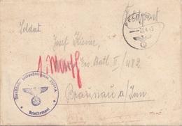 FELDPOST Faltbrief 1943 - Gel. > Braunau Am Inn - 1939-45