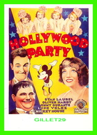 AFFICHES DE FILM - HOLLYWOOD PARTY WITH STAN LAUREL & OLIVER HARDY IN 1934 - - Séries TV