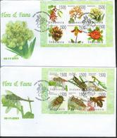 Indonesia. Scott # 2051m-n,  FDC 2 Sheetlets Of 6. Flora & Fauna 2003 - Indonesia