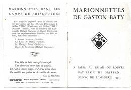 THEME GUIGNOL MARIONNETTES PROGRAMME SPECTACLE JUIN 1944  A PARIS 4 SCANS - Programmes