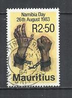 MAURITIUS 1983 - NAMIBIA DAY -  USED OBLITERE GESTEMPELT USADO - Mauritius (1968-...)