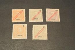 K15942 - Stamps Mint Hinged  Zambezia - 1911  Overprinted REPUBLICA - Zambeze