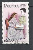 MAURITIUS 1990 - HELEN KELLER, WRITER -  USED OBLITERE GESTEMPELT USADO - Maurice (1968-...)