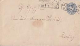 Preussen GS-Umschlag 2 Silbergr. R2 Langensalza 20.3. Gel. Nach Merseburg - Preussen