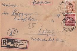 Gemeina. R-Brief Mif Minr.933,951 Not-R-Stempel Rothenbuch 14.6.47 - Gemeinschaftsausgaben