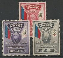 Haiti  Scott#B1 + Michel 279/81 Complete Set Olympic Games Couberin MNH / ** 1940 - Haiti