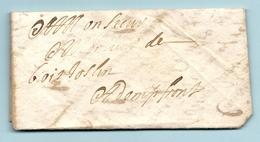 Thème Origami. LAC De Rouen Pour Domfront (Orne). PLIAGE De La Lettre Pas Courant - Marcophilie (Lettres)