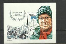Poland 1988 - Olimpic Games, Jerzy Kukuczka, MNH - Blocks & Sheetlets & Panes