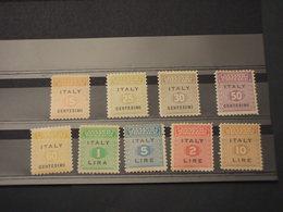 ITALIA - 0CC. SICILIA - 1944 CIFRA 9 VALORI(qualità Di Guerra) - NUOVI(+) - Occup. Anglo-americana: Sicilia