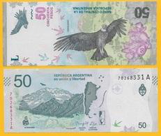 Argentina 50 Pesos P-new 2018 UNC - Argentine