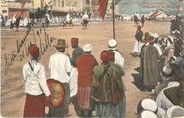 POSTAL    ALGERIE (ARGELIA)  AFRICA  - FÊTES ARABES FANTASIA ET MUSIQUE - Otros