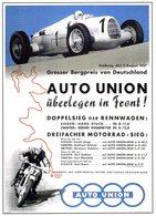 Grand Prix Freiburg  - 1937  -  Auto Union  -  Publicite  -  CPM - Grand Prix / F1