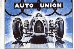 Auto Union Silberpfeil Typ C 16 Zylinder Grand Prix - 1936  -  Publicite  -  CPM - Grand Prix / F1