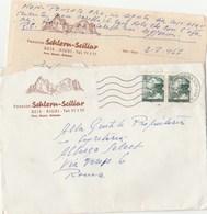 8263 Eb.   Busta Con Corrispondenza  Da Pension Schlern - Sciliar  Seis Siusi  1967 - 1946-.. République