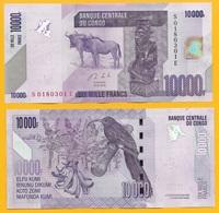 Congo 10000 (10,000) Francs P-103b 2013 UNC - Congo