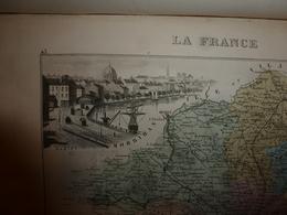 1880 Carte Géographique Et Descriptive De La LOIRE INFERIEURE (Nantes): Gravures Taille Douce - Migeon,géographe-éditeur - Geographische Kaarten