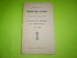 """Pape Pie XII ; Lettre Encyclique """"Haurieti Aquas In Caudio"""" Le Culte Et La Dévotion Au Sacré Coeur  1956 - Religion"""