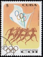 CUBA - Scott #3577 Intl. Olympic Committee, 100th Anniv. / Used Stamp - Olympic Games