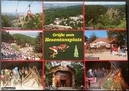 Ak Deutschland - Hexentanzplatz - Roßtrappe - Bergtheater - Walpurgisnacht.......... - Thale