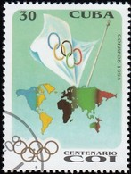 CUBA - Scott #3578 Intl. Olympic Committee, 100th Anniv. / Used Stamp - Olympic Games
