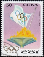 CUBA - Scott #3579 Intl. Olympic Committee, 100th Anniv. / Used Stamp - Olympic Games