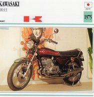 Kawasaki 400 S3  -  1975 - Moto De Sport -  Fiche Technique/Carte De Collection - Motos