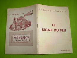 Théatre Hébertot:Le Signe Du Feu,D. Fabbri;Pub Forges Les Eaux,Courvoisier,Coca Cola,Perrier,Pschitt .. Photos.1920.1960 - Théâtre