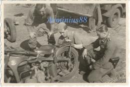 Waffen-SS - Ostfeldzug - Motorrad Zündapp KS 750 - Guerre, Militaire