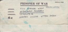 POW Letter 8550 Lab. Serv. Co.PWE 412 5th Lab. Supv. Area APO 772 To Heidelberg - 1946 (38932) - Etats-Unis