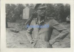 Waffen-SS - SS-Oberscharführer Mit Leichte Drillich Feldbluse - Krieg, Militär