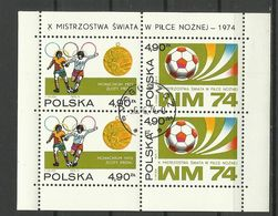 Poland 1974 - Soccer, Used - Blocks & Sheetlets & Panes