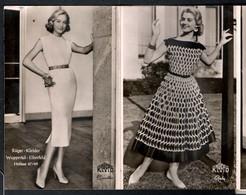 C2249  12 Hübsche Junge Frauen- Pretty Young Women - RÜCO Kleider - Leporello - Mode Modelle - Werbung Reklame - Mode